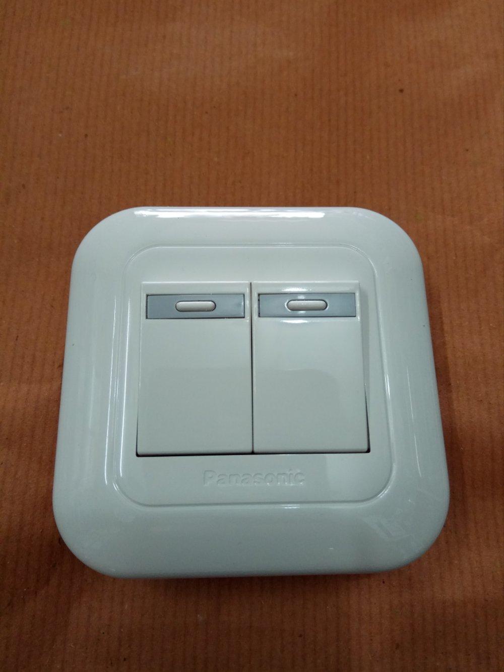 Saklar Seri Double Panasonic White Putih G 162